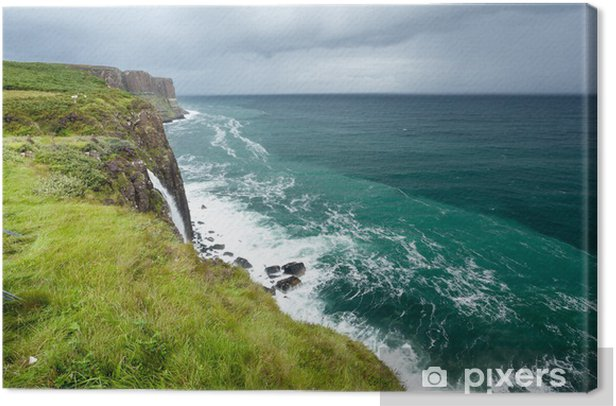 Kilt Rock Seascape, Isle of Skye, Scotland Canvas Print - Holidays