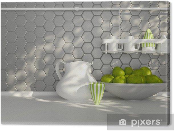 Kitchen worktop. Canvas Print - Themes
