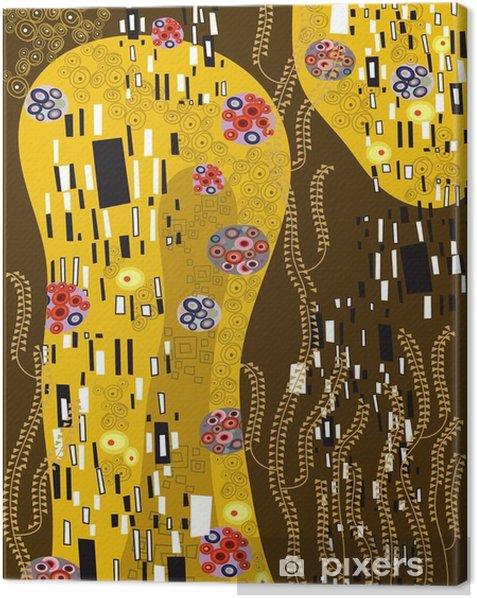 klimt inspired abstract art Canvas Print - Styles