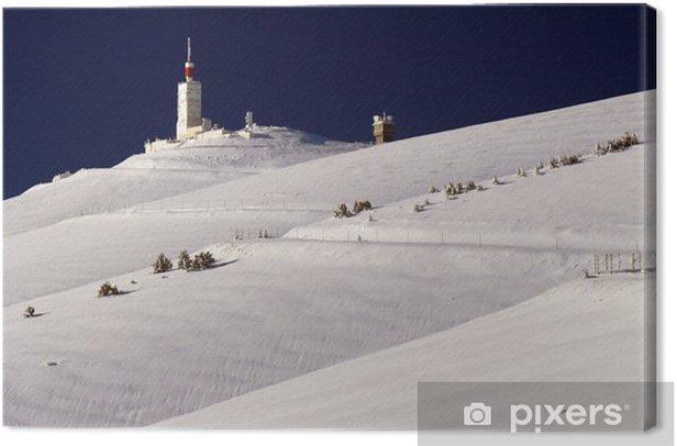 La route de Bédoin en hiver Canvas Print - Seasons