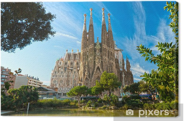 La Sagrada Familia, Barcelona, spain. Canvas Print - Themes