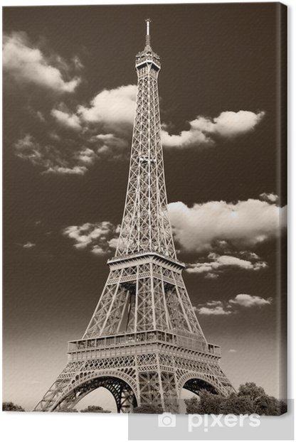 la Torre Eiffel retrò Canvas Print -