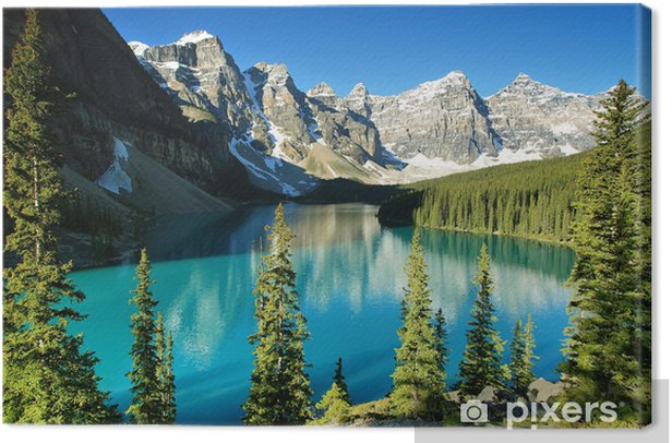 Lake Moraine, Banff national park Canvas Print - Summer