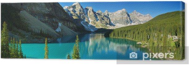 Lake Moraine, Banff national park Canvas Print - Themes