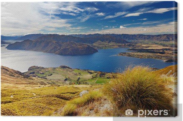Lake Wanaka, New Zealand Canvas Print - Panorama