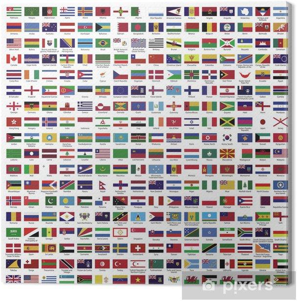 Land ~ Länder ~ Welt ~ World ~ Fahnen ~ Flaggen - Megaset Canvas Print - Outer Space