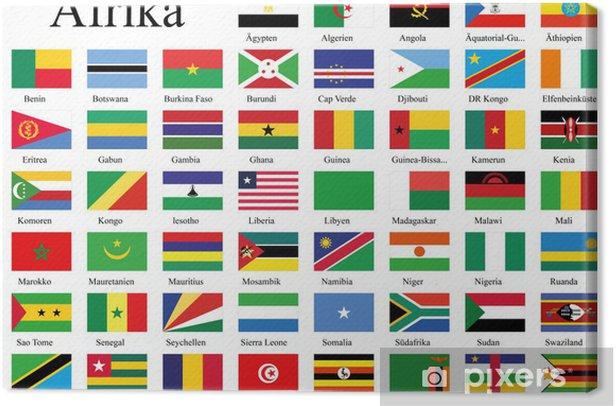 Länderflaggen Afrikas Canvas Print - Africa