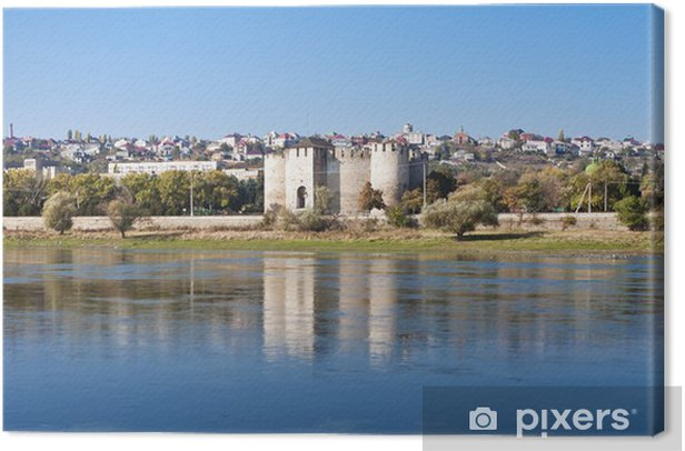 landscape of the Dniester River Canvas Print - Monuments