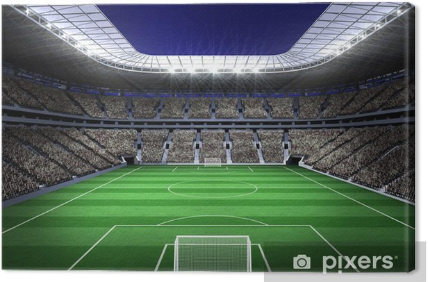 Large football stadium with lights Canvas Print - iStaging