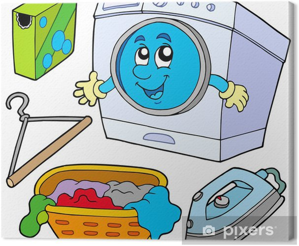 Laundry collection Canvas Print - Lifestyle>Body Care and Beauty