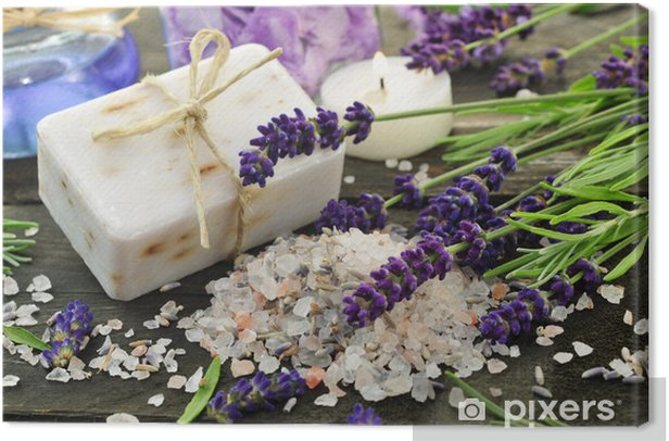 Lavendelbad Canvas Print - Lifestyle>Body Care and Beauty