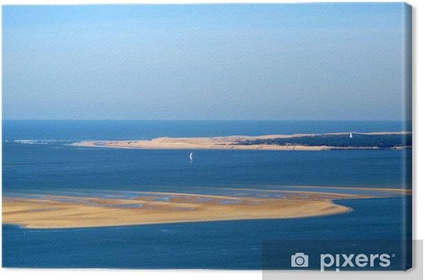 Le Banc Darguin Depuis La Dune Du Pilat Canvas Print Pixers We