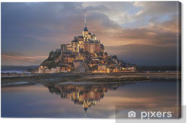 Le Mont Saint Michel Canvas Print - Themes