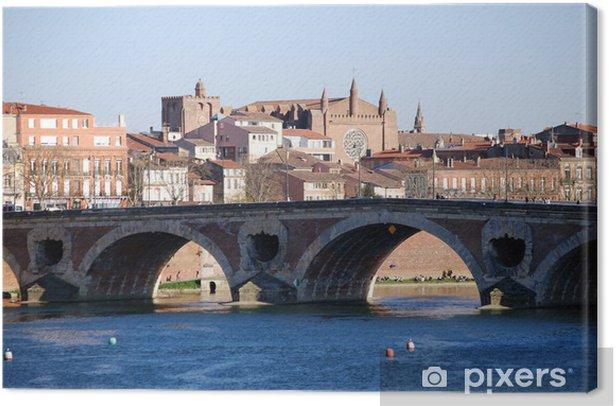 Le Pont Neuf à Toulouse Canvas Print - Holidays