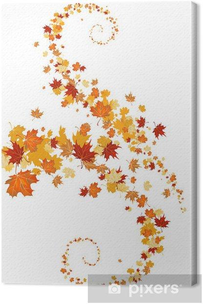 Leaves swirl Canvas Print - Themes