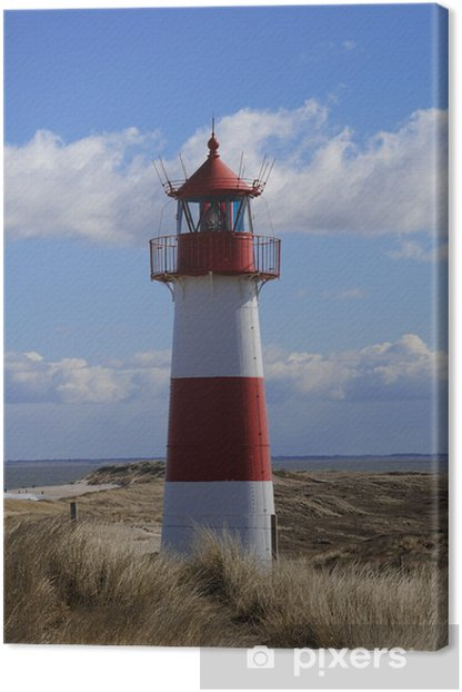 leuchtturm list sylt ellenbogen Dünen Canvas Print - Lighthouse