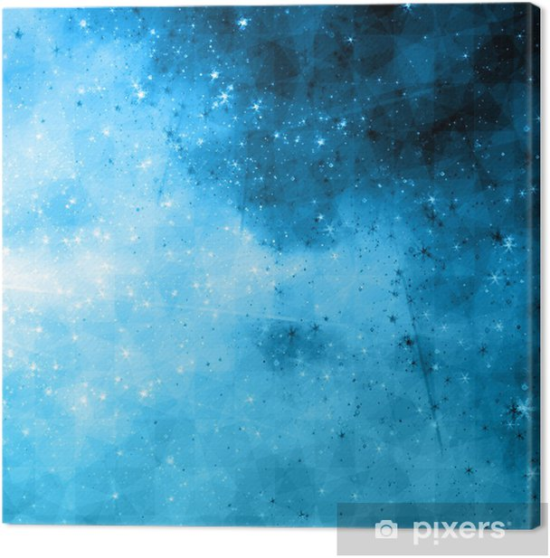 Light Blue triangle-square-universe background Lumicuci-6 Canvas Print