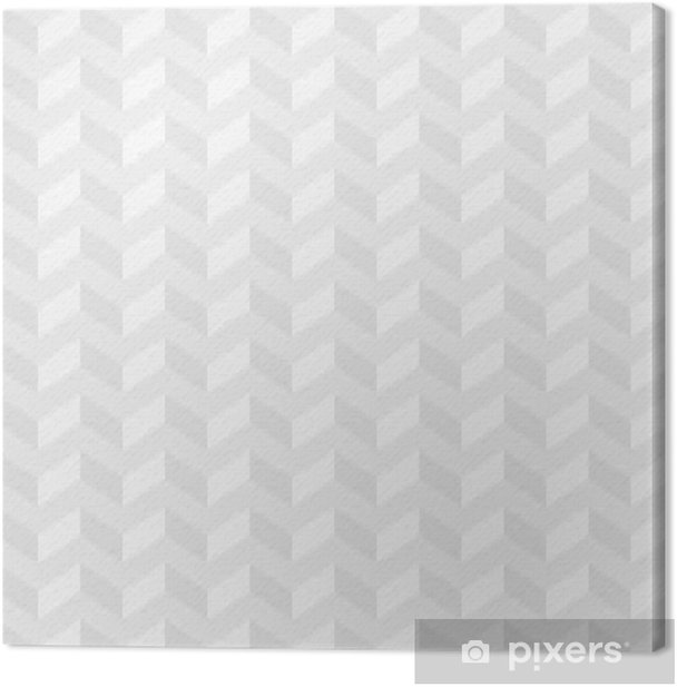 Light Gray Isometric Chevron Pattern Neutral Seamless Herringbone Wallpaper Background Canvas Print