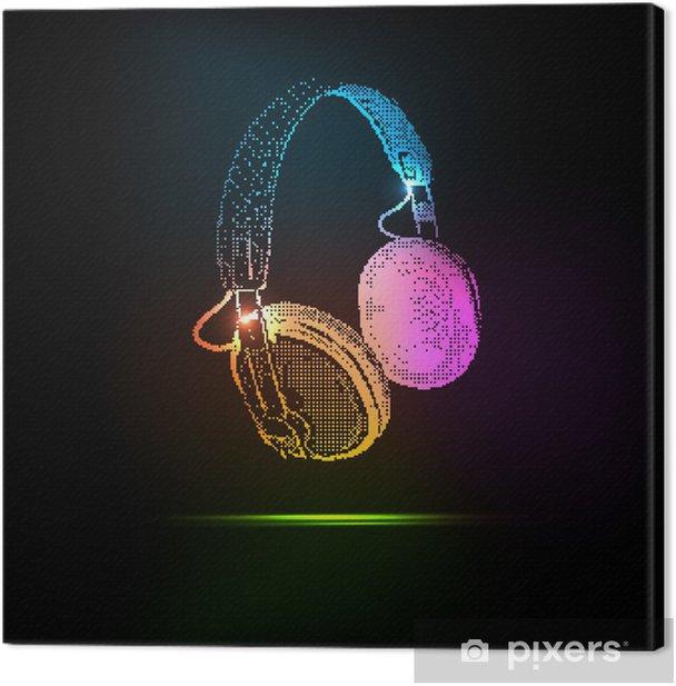 Light Headphones Canvas Print - Styles