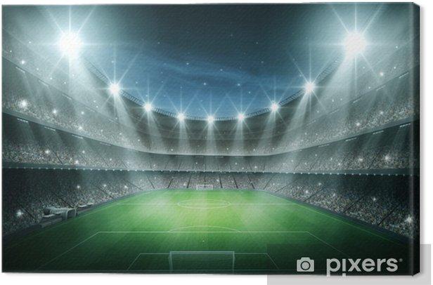 Light of stadium Canvas Print - American football