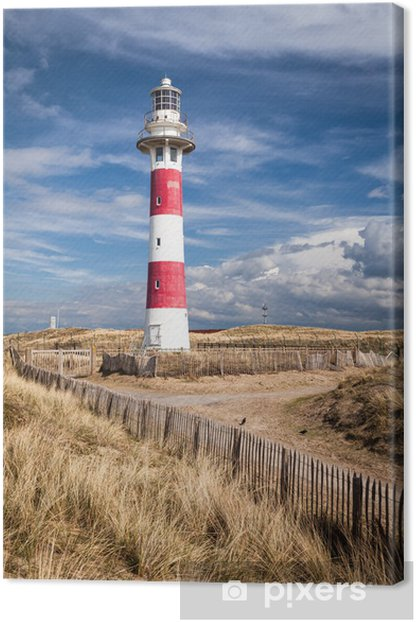 Lighthouse in Nieuwpoort. Belgium. Canvas Print - Lighthouse