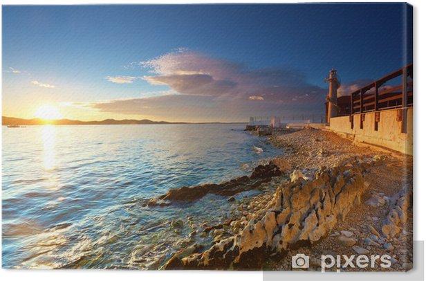 lighthouse in Zadar Canvas Print - Lighthouse