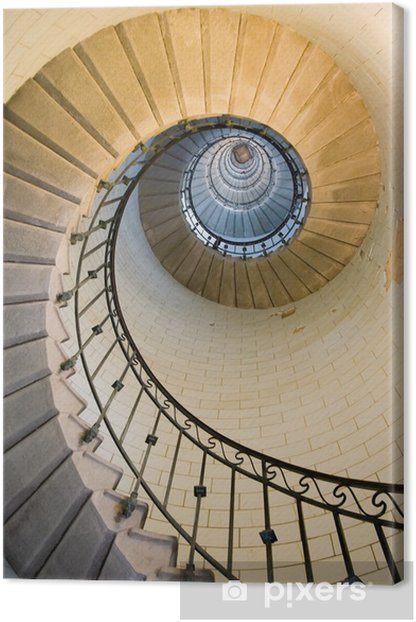 lighthouse staircase 3 Canvas Print - Styles