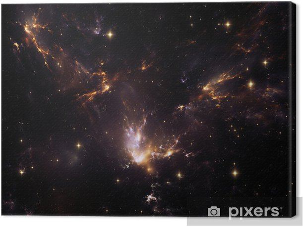 Lights of Cosmos Canvas Print - Themes