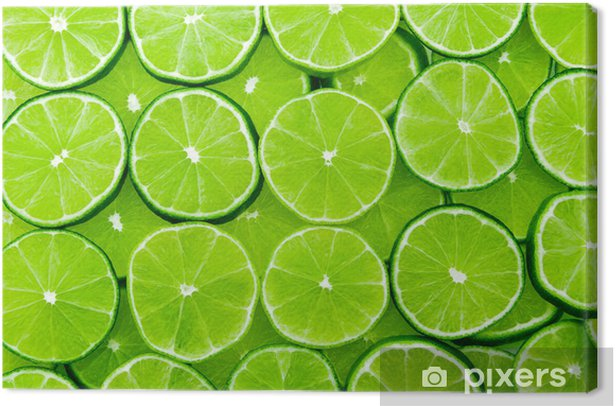 lime background Canvas Print -