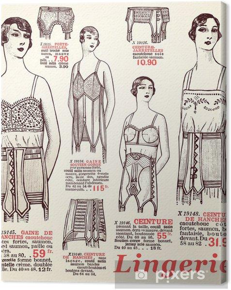 lingerie 1930 Canvas Print - Textures