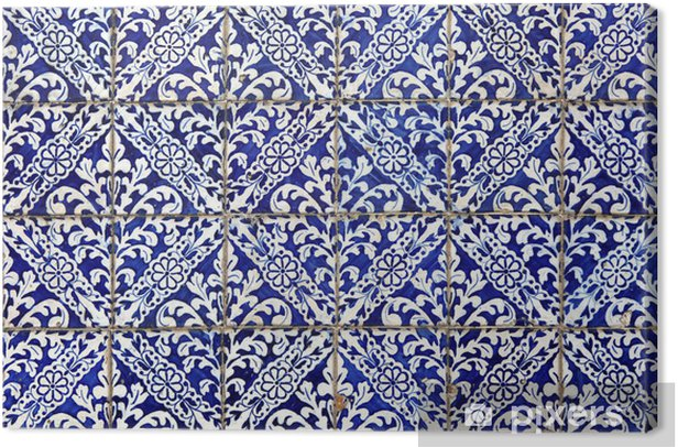 Lisbon azulejos Canvas Print - Tiles