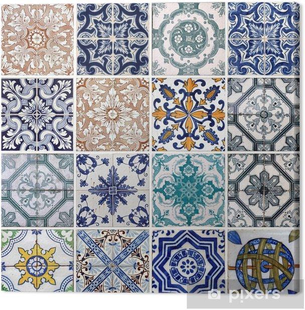 Lisbon tiles Canvas Print - Tiles