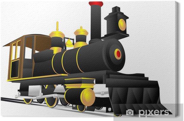 locomotive Canvas Print - Railway