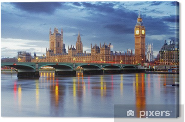London - Big ben and houses of parliament, UK Canvas Print -