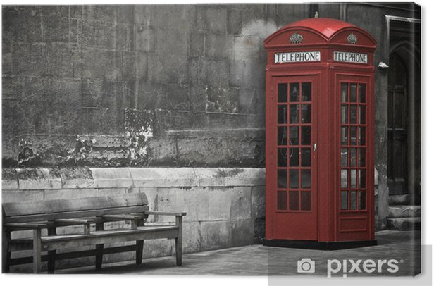 London Booth Canvas Print - Themes