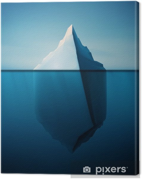 Lonely Iceberg Canvas Print - Landscapes