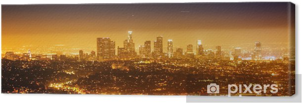 Los Angeles, night panorama Canvas Print - Themes