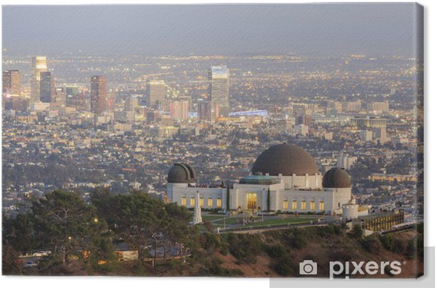 Los Angeles Sunset Cityscape, Griffin Observatory Canvas Print - America