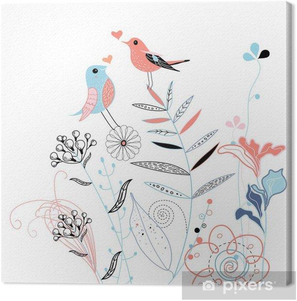 love birds Canvas Print - Lifestyle