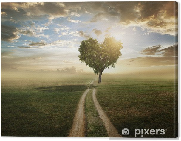 Love Tree Canvas Print - Themes