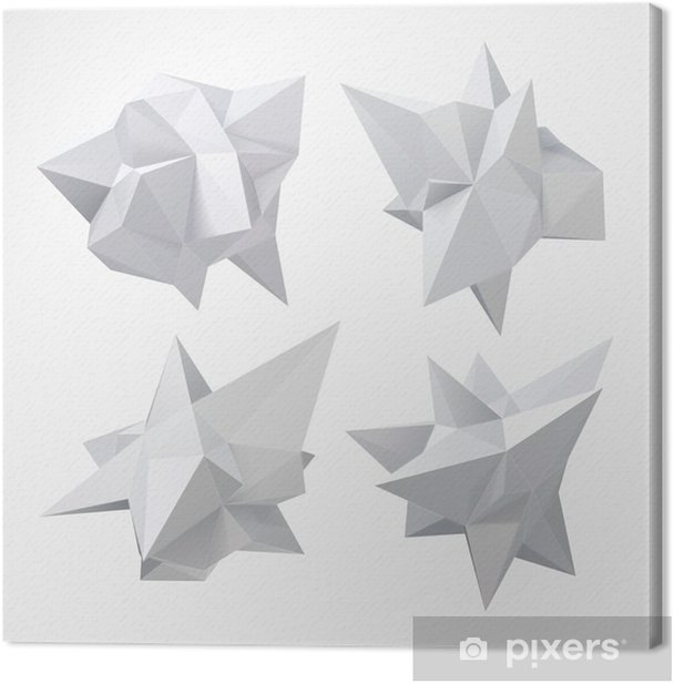 Low polygon geometry shape. Vector illustration Canvas Print - Business