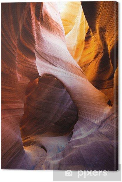 Lower antelope slot canyon, Navajo reservation, Page, Arizona, U Canvas Print - Deserts