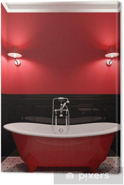 Colors Canvas Print Pixers, Black And Red Bathroom
