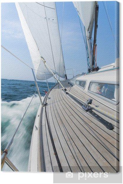 luxury sailing yacht Canvas Print - Boats