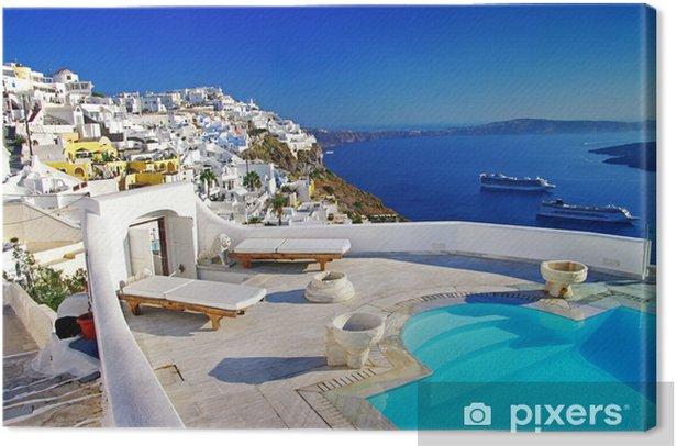 luxury vacation - Santorini Canvas Print - Themes