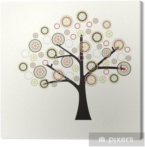 Machine Tree Canvas Print - Heavy Industry
