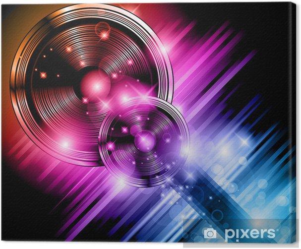 Magic Star Lights Disco flyer background Canvas Print - Entertainment