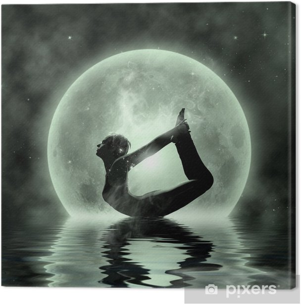 Magic Yoga - Moonlight Meditation Canvas Print - Lifestyle>Body Care and Beauty