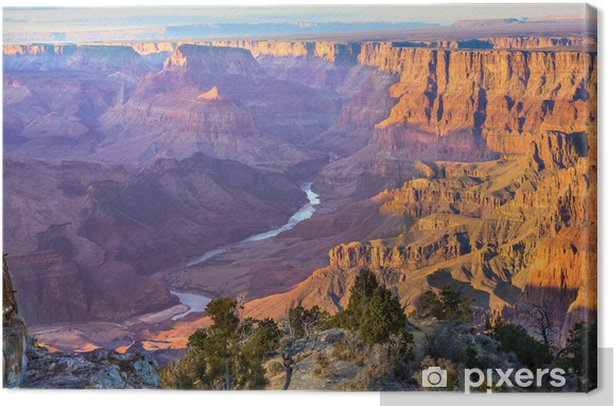 Majestic Vista of the Grand Canyon at Dusk Canvas Print - Themes