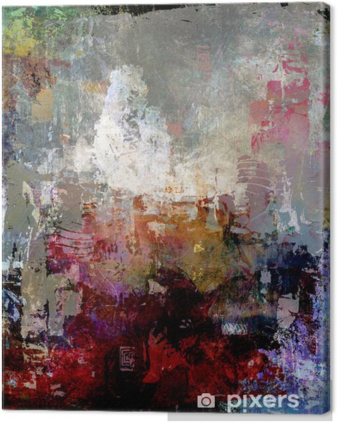 malerei texturen abstrakt Canvas Print - Styles